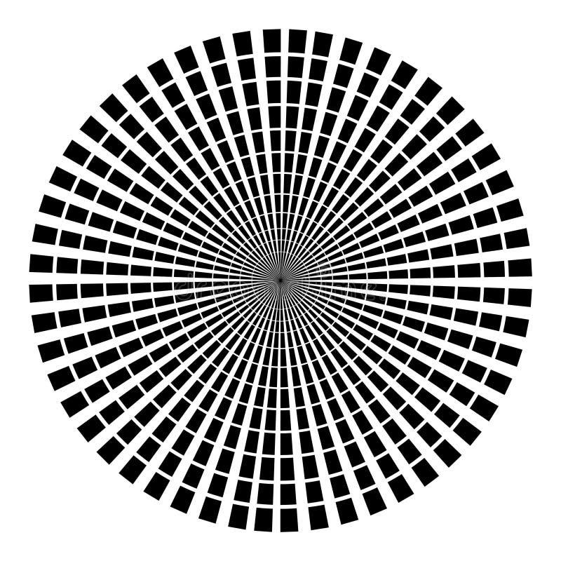Fond sous la forme de rayons noirs sous forme de cercle sur un fond blanc Illustration de vecteur pour le web design illustration stock