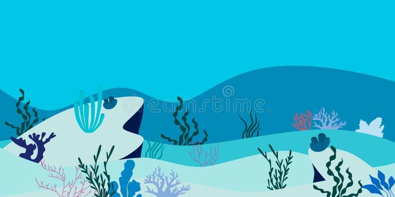 Fond sous-marin d'océan illustration libre de droits