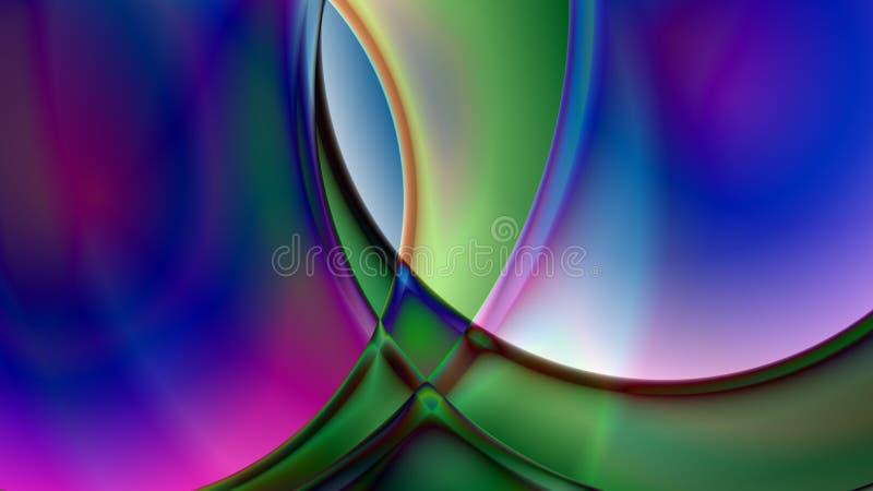 Fond sphérique abstrait de prisme illustration stock