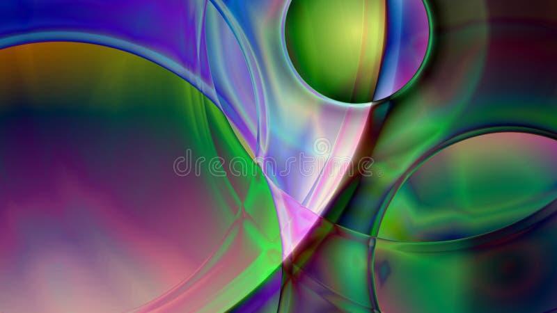 Fond sphérique abstrait de prisme illustration de vecteur