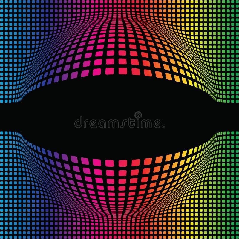 Fond sphérique multicolore abstrait illustration de vecteur