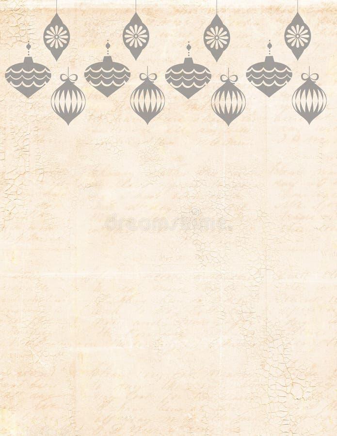 Fond stationnaire de Noël avec des cloches. image libre de droits