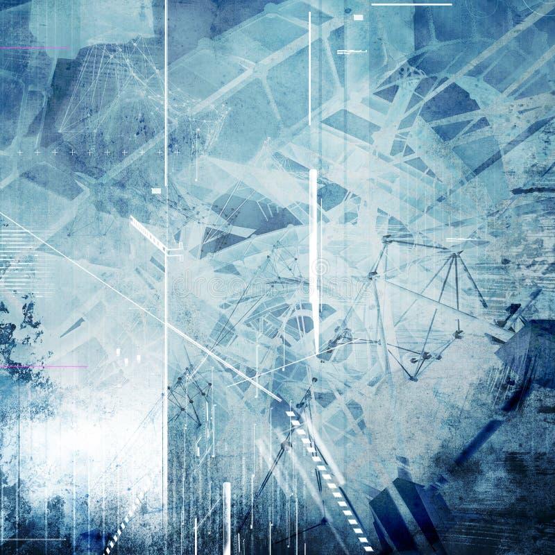 Fond stylisé de la science abstraite photo libre de droits