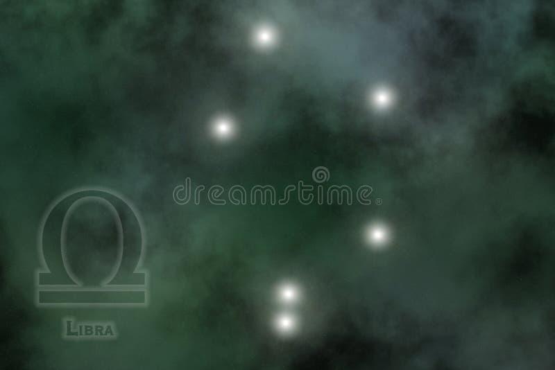 Fond stylisé de zodiaque illustration stock
