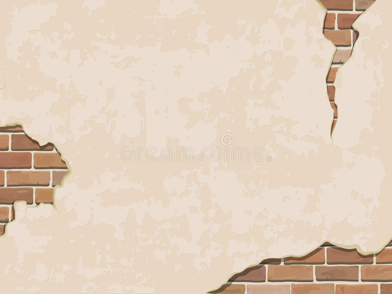 Fond superficiel par les agents de mur avec la brique illustration de vecteur