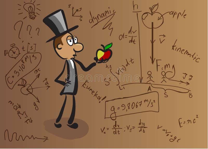 Fond sur le sujet de la physique illustration libre de droits