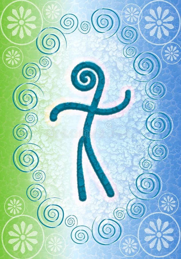 Fond symbolique 2 d'esprit humain illustration libre de droits