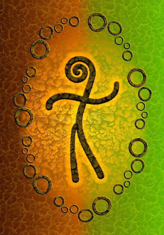 Fond symbolique d'esprit humain illustration libre de droits