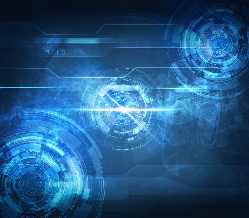 Fond technologique bleu abstrait illustration libre de droits