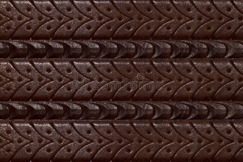 Fond, texture d'une ceinture en cuir cannelée images libres de droits