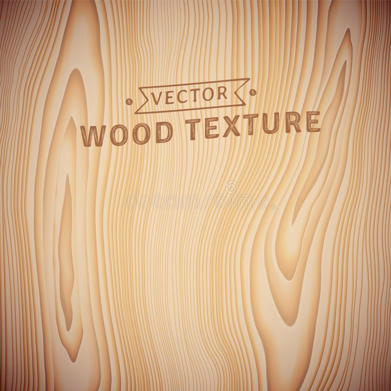 Fond, texture de bois naturel réaliste illustration stock