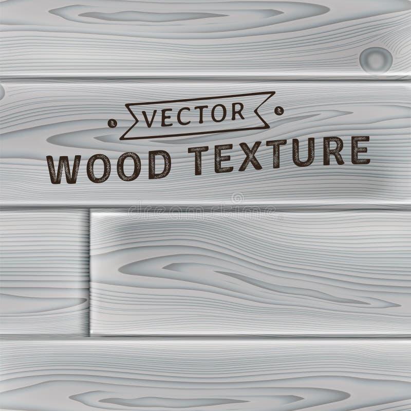 Fond, texture des planches en bois souillées naturelles réalistes illustration de vecteur