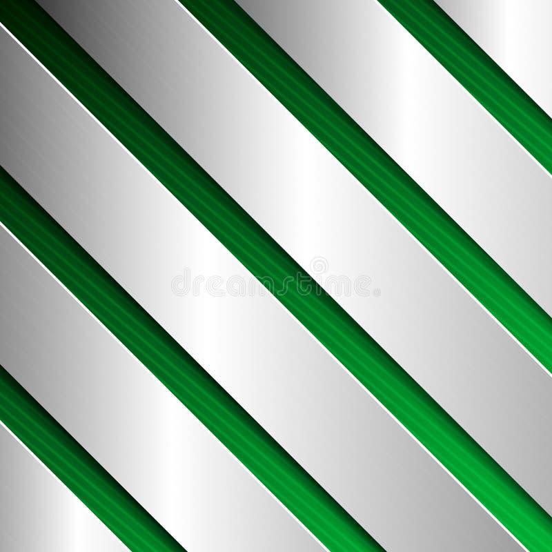 Fond texturisé abstrait avec des plaques de métal en vert photos stock