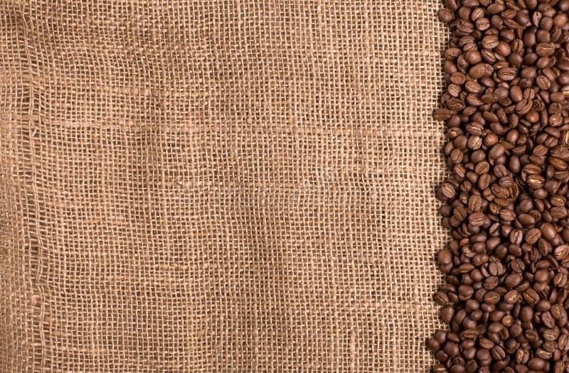 Fond texturisé avec des grains de café, grains images stock