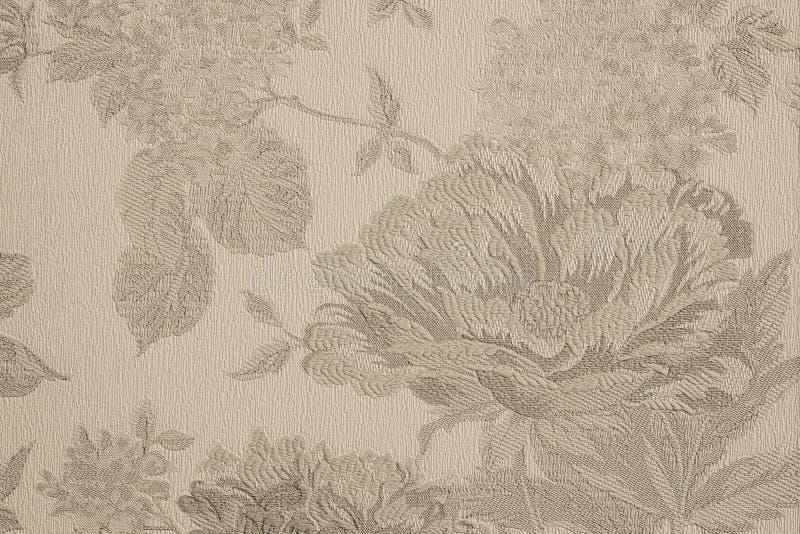 Fond texturisé avec la grande fleur beige photo stock