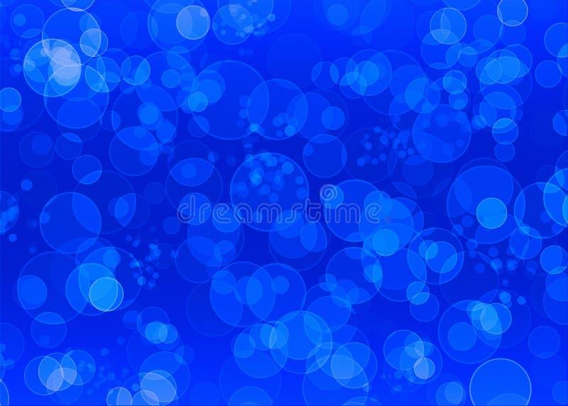 Fond texturisé bleu avec des cercles illustration libre de droits