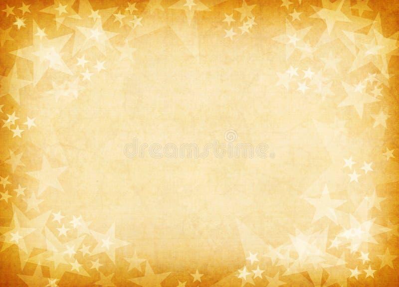 Fond texturisé d'or d'étoile. photo stock