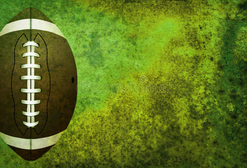 Fond texturisé de champ de football américain avec la boule images libres de droits