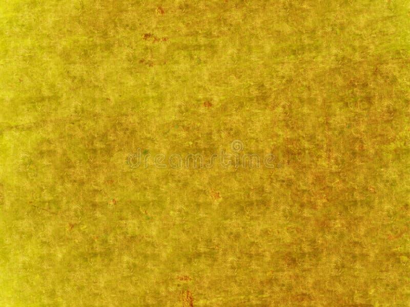 Fond texturisé de grunge antique d'or illustration libre de droits