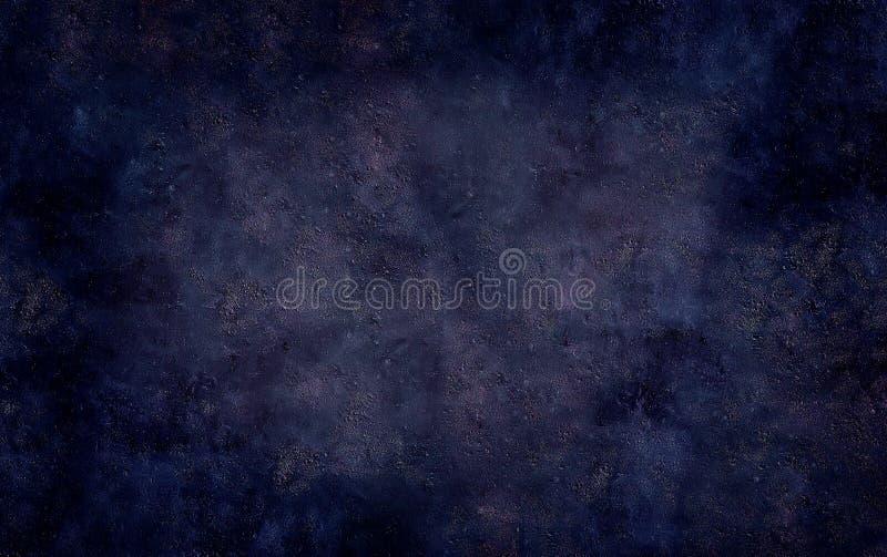 Fond texturisé de grunge en pierre concret bleu-foncé photos stock