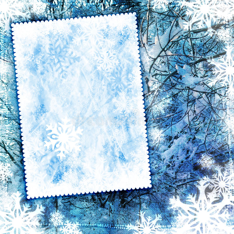 Fond texturisé de l'hiver de cru illustration stock