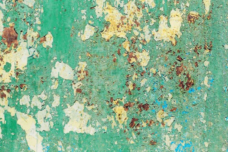 Fond texturisé de papier peint de panneau rouillé en métal photo stock