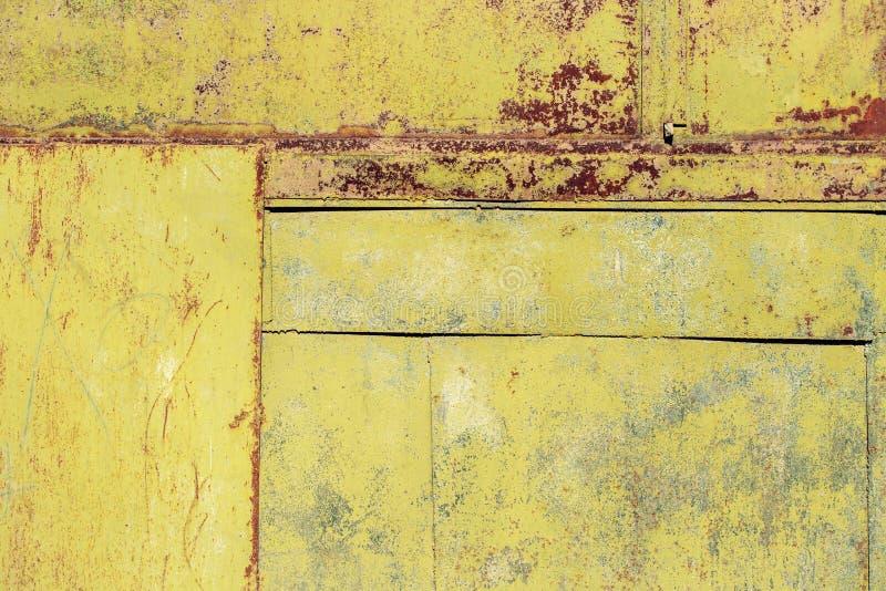 Fond texturisé de papier peint de panneau rouillé en métal photographie stock libre de droits