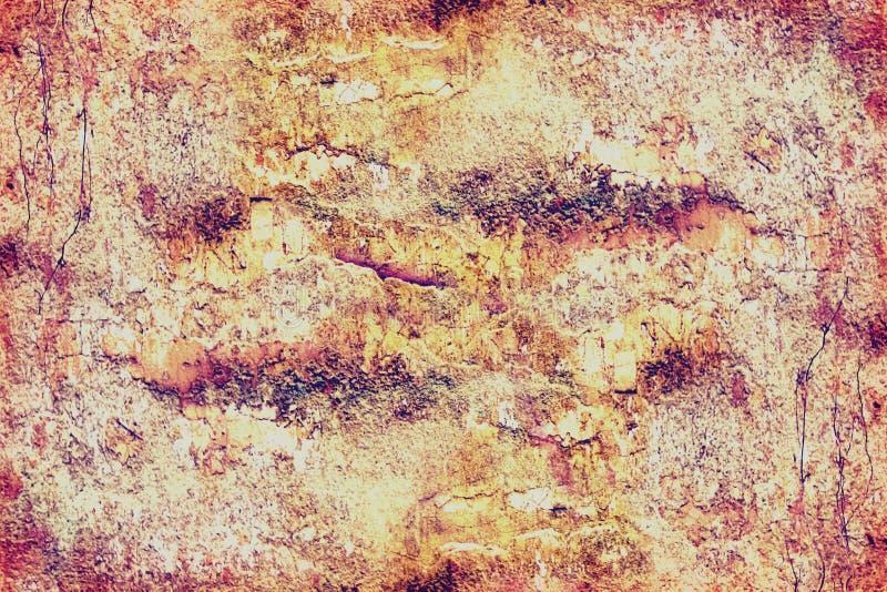 Fond texturisé en gros plan de peinture de écaillement multicouche sur le mur photo stock