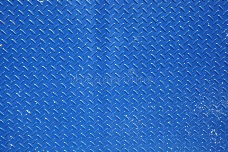 Fond texturisé en métal dans le bleu image libre de droits