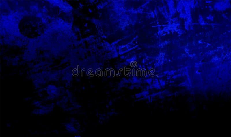 Fond texturisé ombragé bleu et noir de mur Texture grunge de fond Papier peint de fond image libre de droits