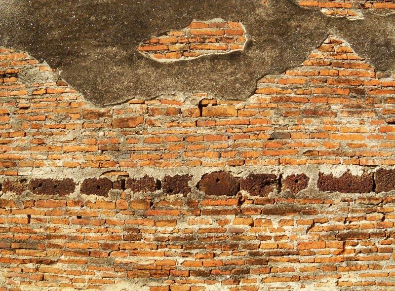 Fond texturisé : vieux modèle de mur de briques photo stock