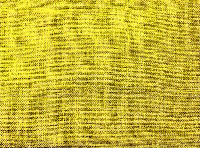 Fond texturis? de textile naturel jaune illustration stock