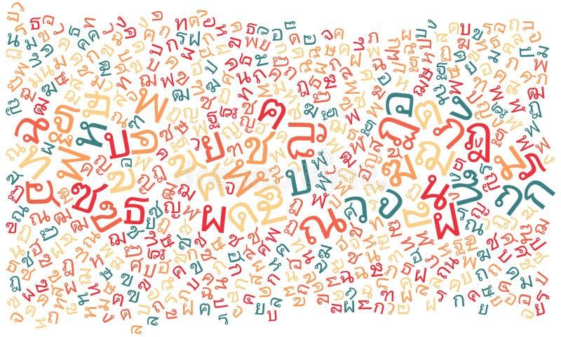 Fond thaïlandais de texture d'alphabet illustration de vecteur