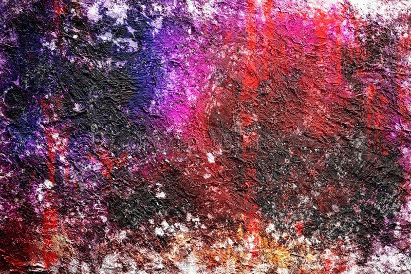Fond tiré d'aquarelle de peinture abstraite par technique numérique de brosse, papier peint avec la texture polychrome de modèle  illustration de vecteur