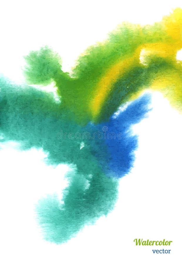 Fond tiré par la main abstrait d'aquarelle illustration libre de droits