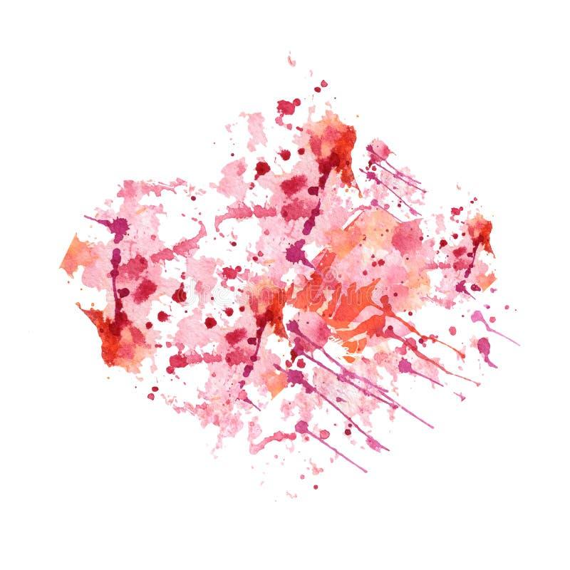 Fond tiré par la main abstrait d'aquarelle Illustration de vecteur Texture grunge pour des cartes et la conception d'insectes tac illustration de vecteur