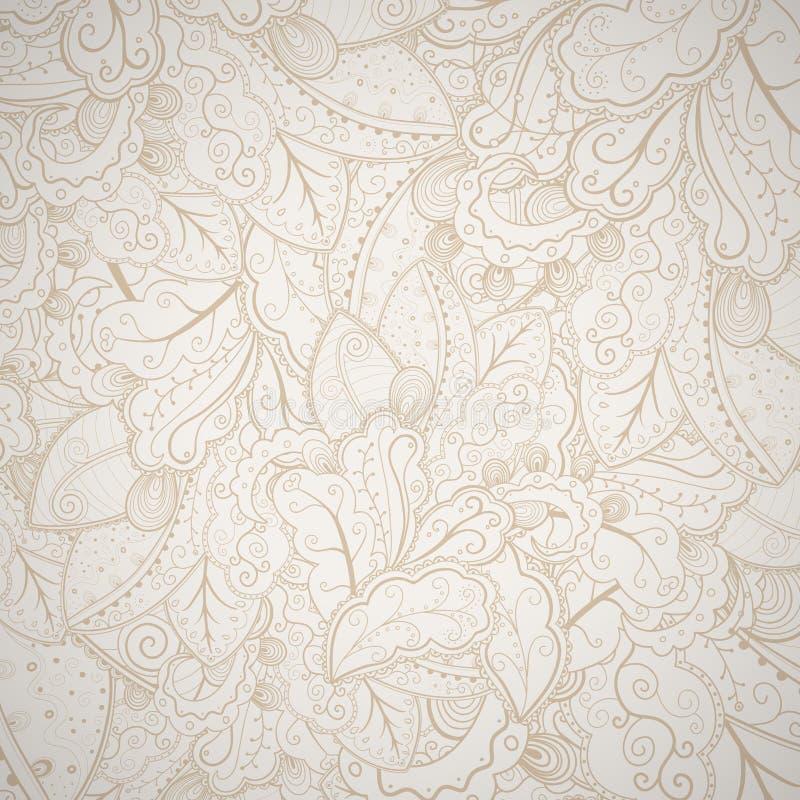 Fond tiré par la main abstrait floral. illustration de vecteur