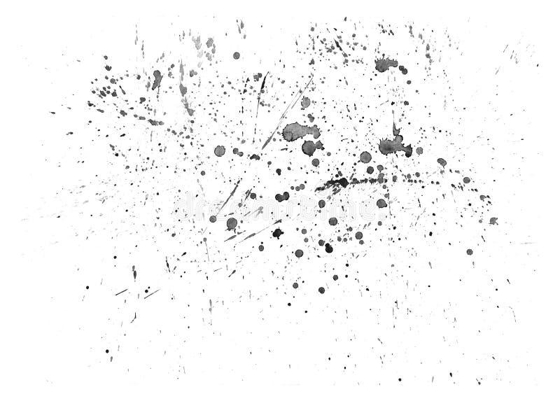 Fond tiré par la main d'aquarelle, baisses de l'eau d'aquarelle illustration de vecteur