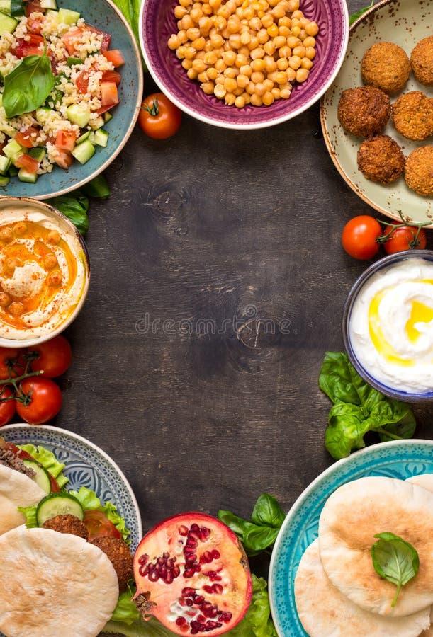 Fond traditionnel du Moyen-Orient de plats photos libres de droits