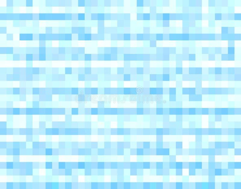 Fond tramé bleu de pixels illustration libre de droits
