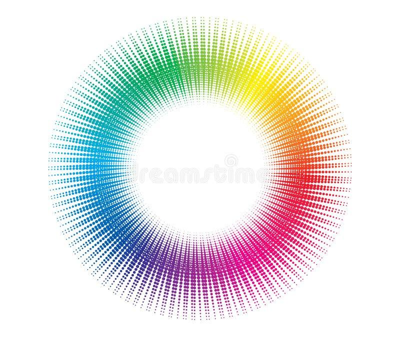 Fond tramé de cercle illustration de vecteur