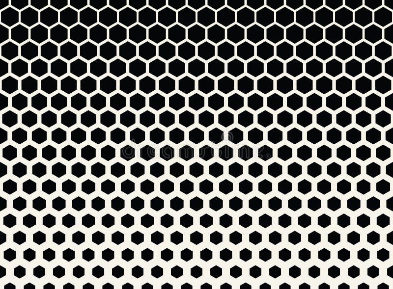fond tramé graphique noir et blanc géométrique abstrait de modèle d'hexagone illustration libre de droits