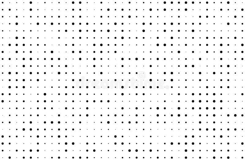 Fond tramé grunge Gradient de Digital Le modèle pointillé avec des cercles, points, dirigent petit et la large échelle illustration libre de droits