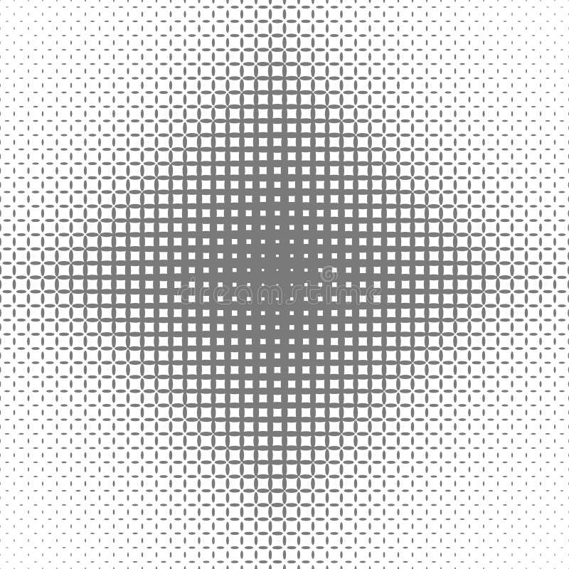 Fond tramé symétrique abstrait de modèle de grille d'ellipse - conception graphique de vecteur illustration stock