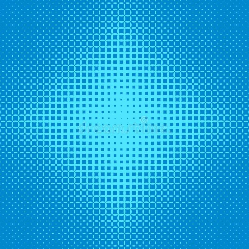 Fond tramé symétrique bleu de modèle de grille d'ellipse - dirigez la conception des ellipses illustration de vecteur