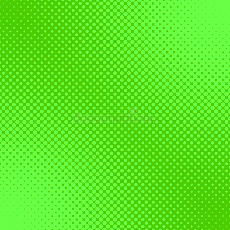 Fond tramé vert de modèle de point - graphique de vecteur des cercles illustration libre de droits