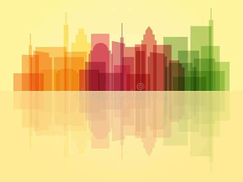Fond transparent élégant de paysage urbain illustration stock