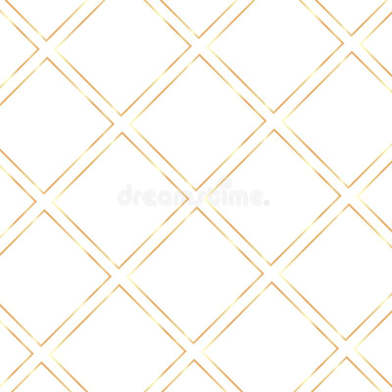 Fond transparent de cadres brillants réalistes d'or de cru illustration de vecteur