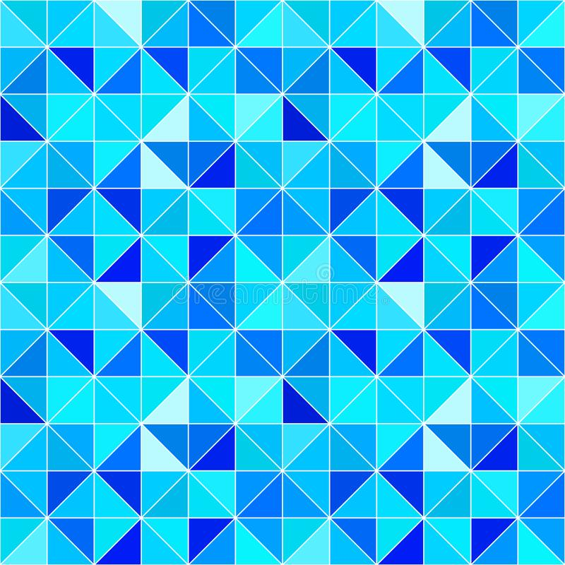 Fond triangulaire bleu Contexte géométrique moderne de vecteur avec des triangles Couleurs lumineuses Texture abstraite Papier pe illustration stock