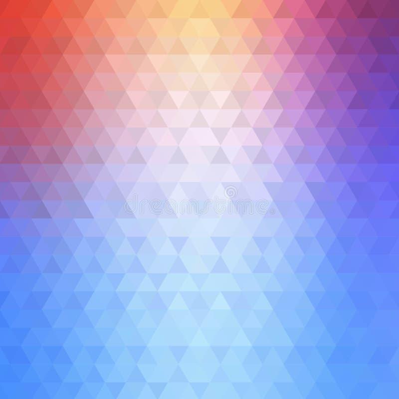 Fond triangulaire color? illustration abstraite d'ector de v Style polygonal illustration de vecteur